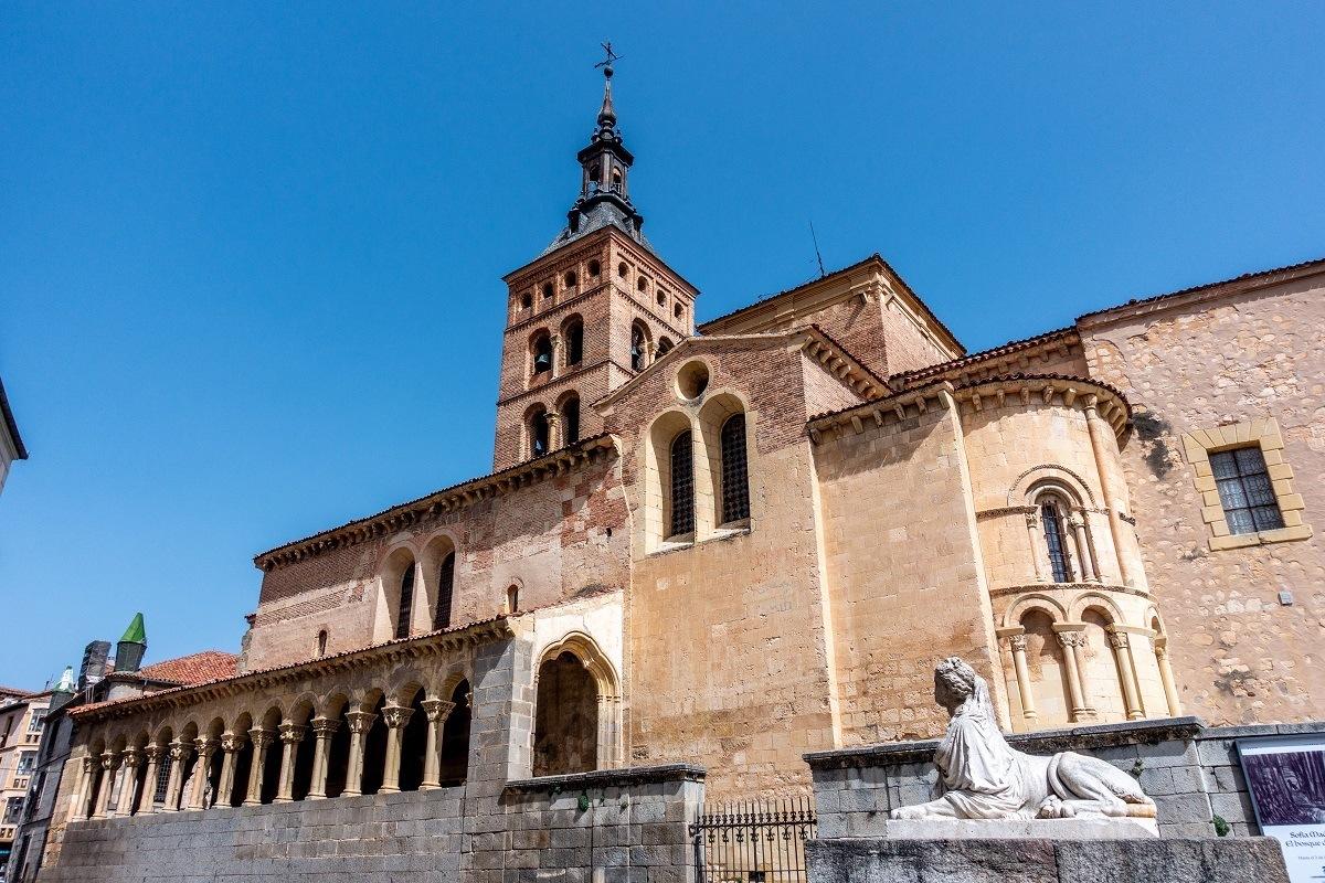 Exterior a church with a belltower