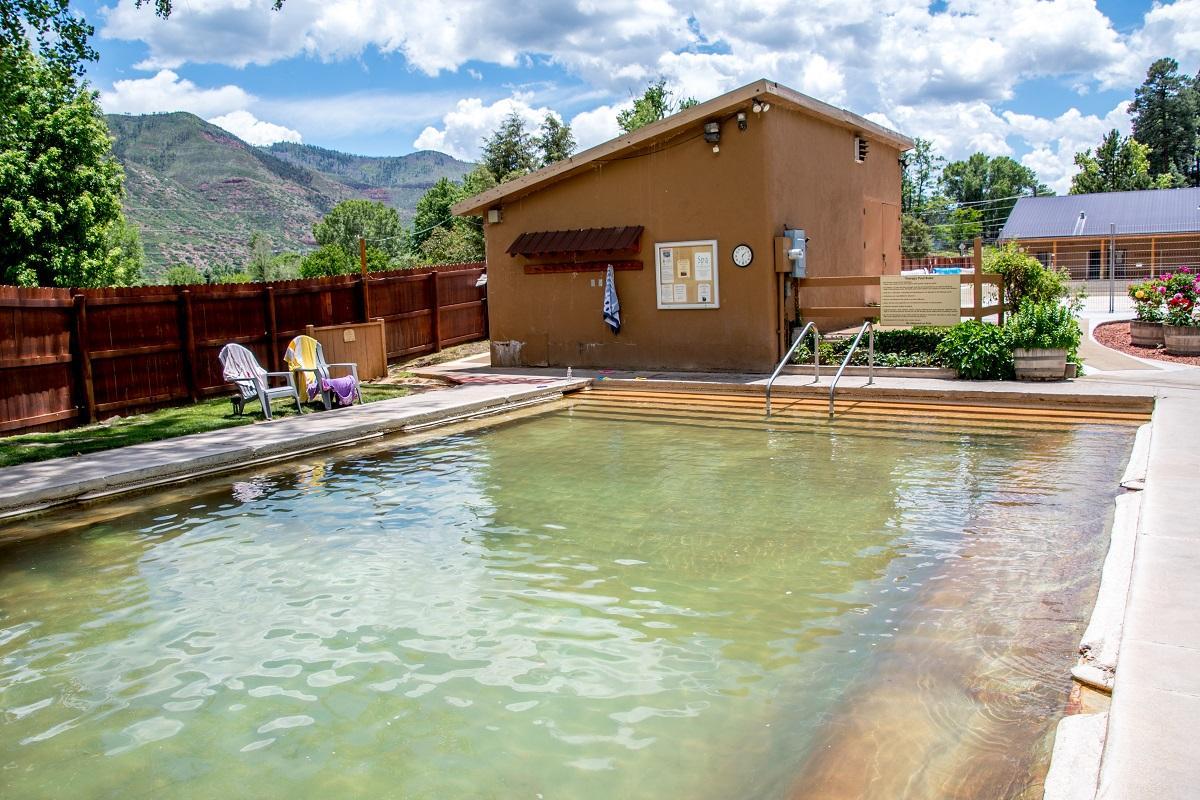 The hot pool in Durango