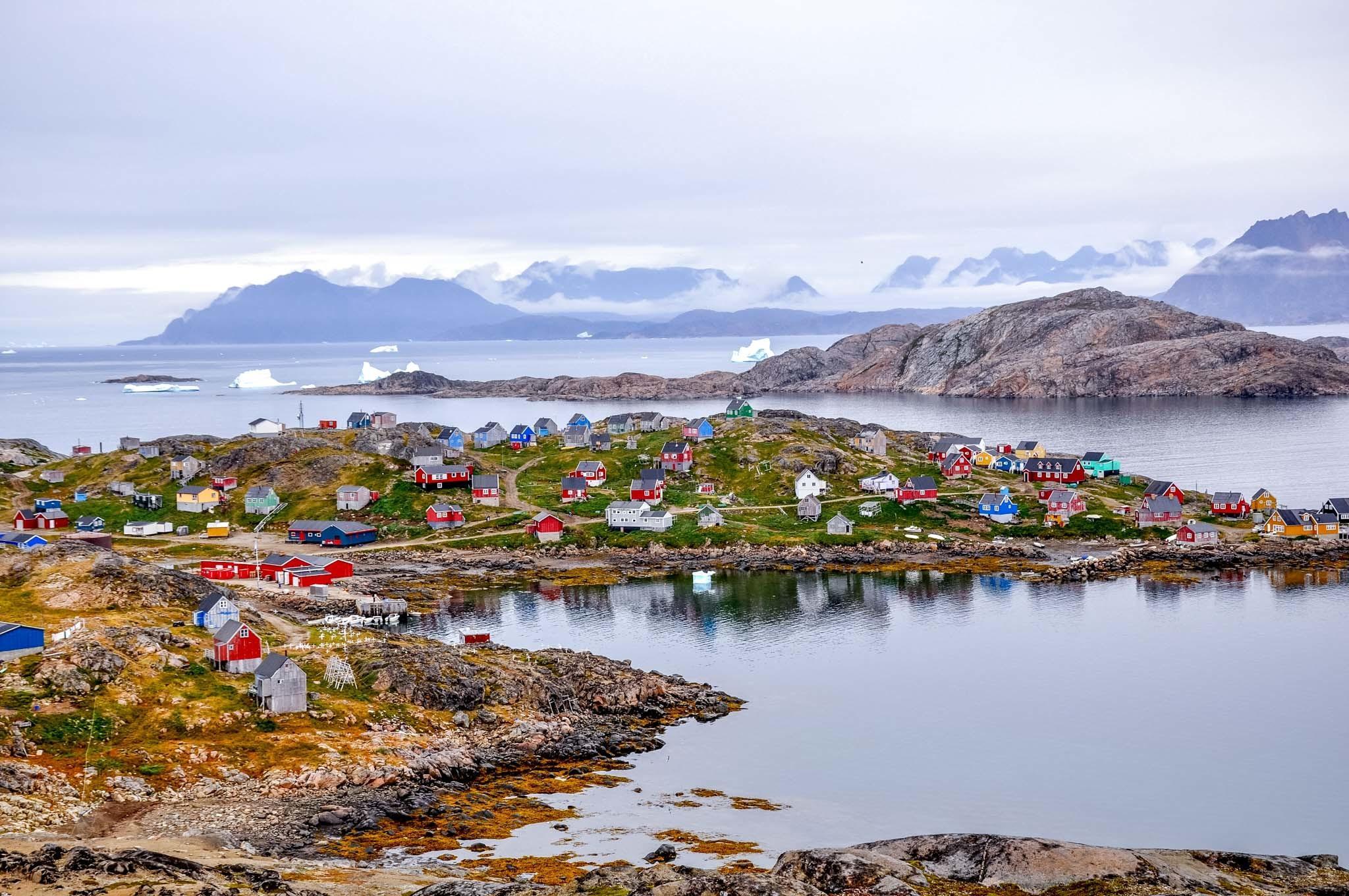 Colorful homes in Kulusuk, Greenland