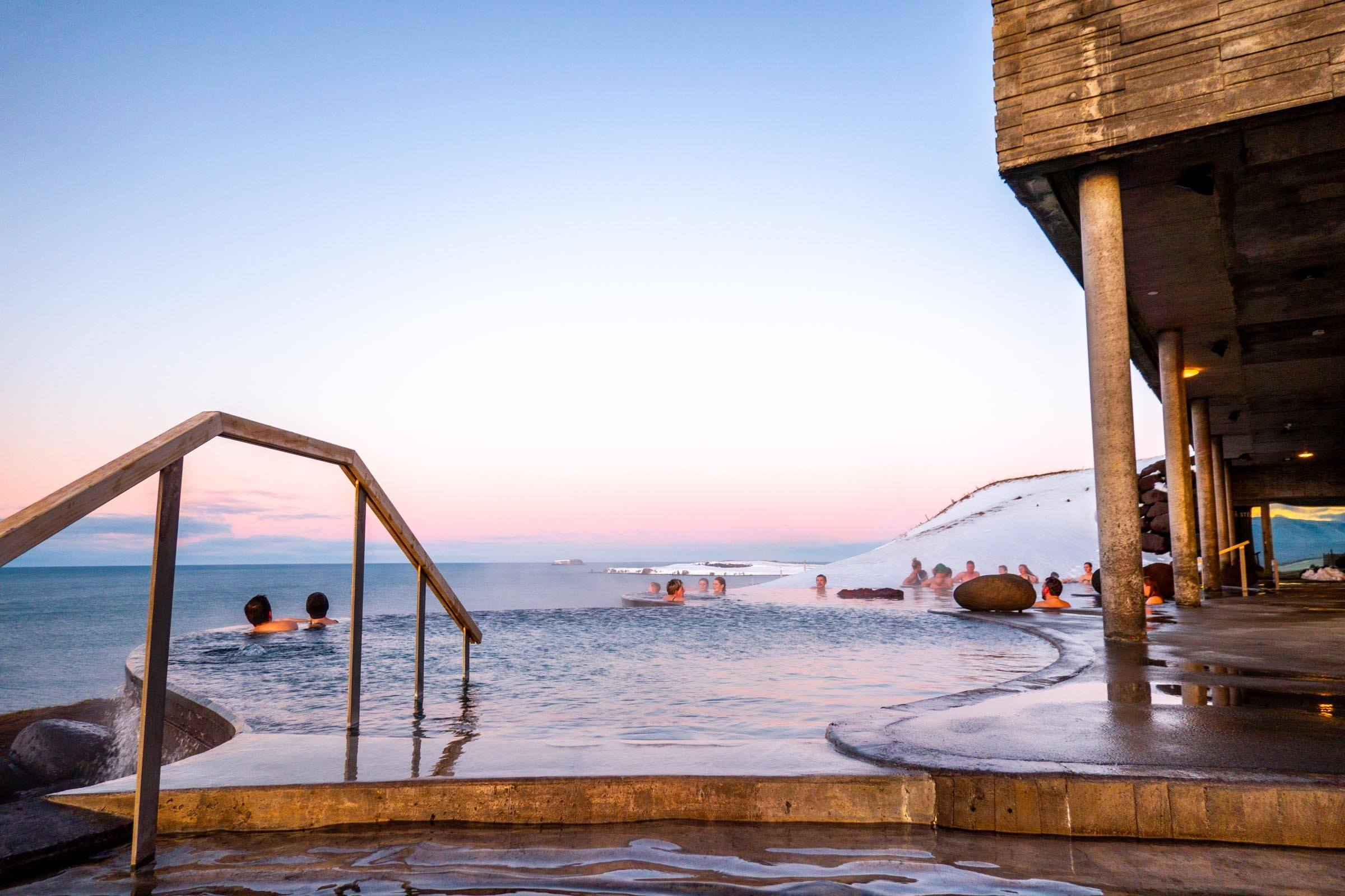 GeoSea Geothermal Baths in the winter