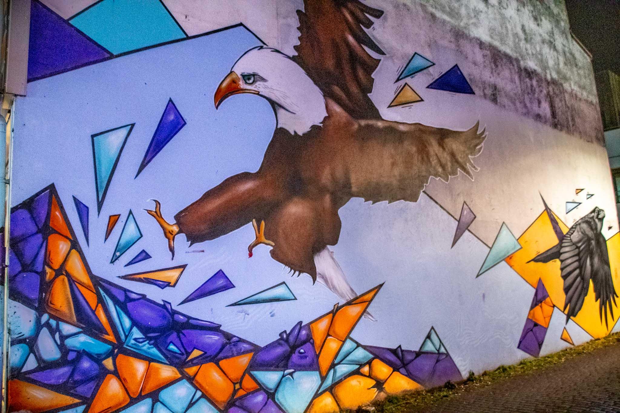 An Eagle mural in Reykjavik