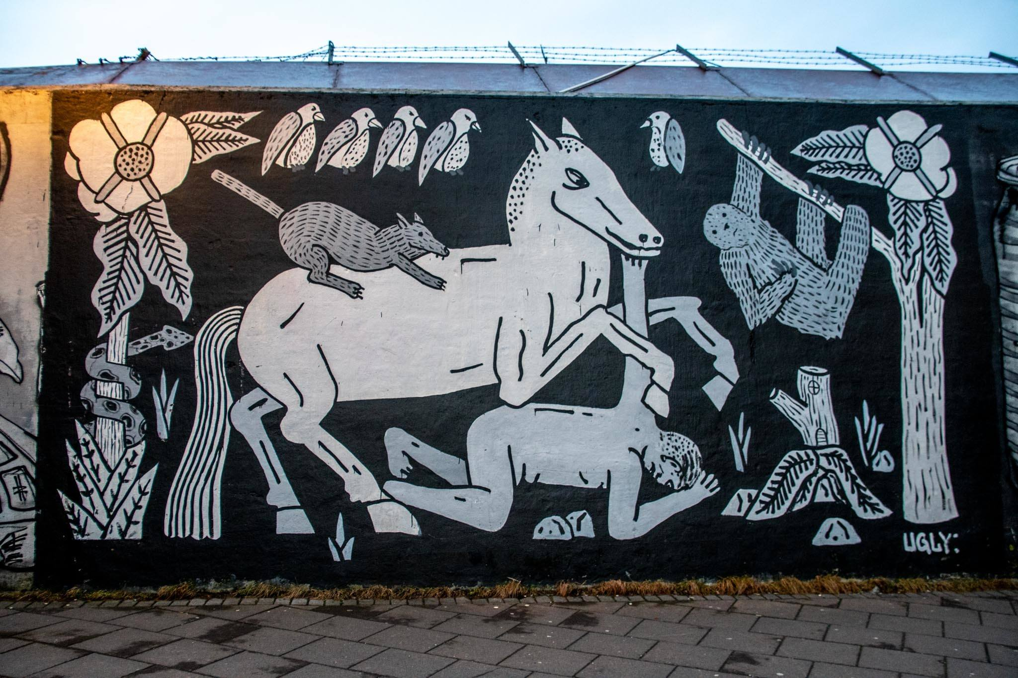 Horse and animals mural by Ugly Brothers