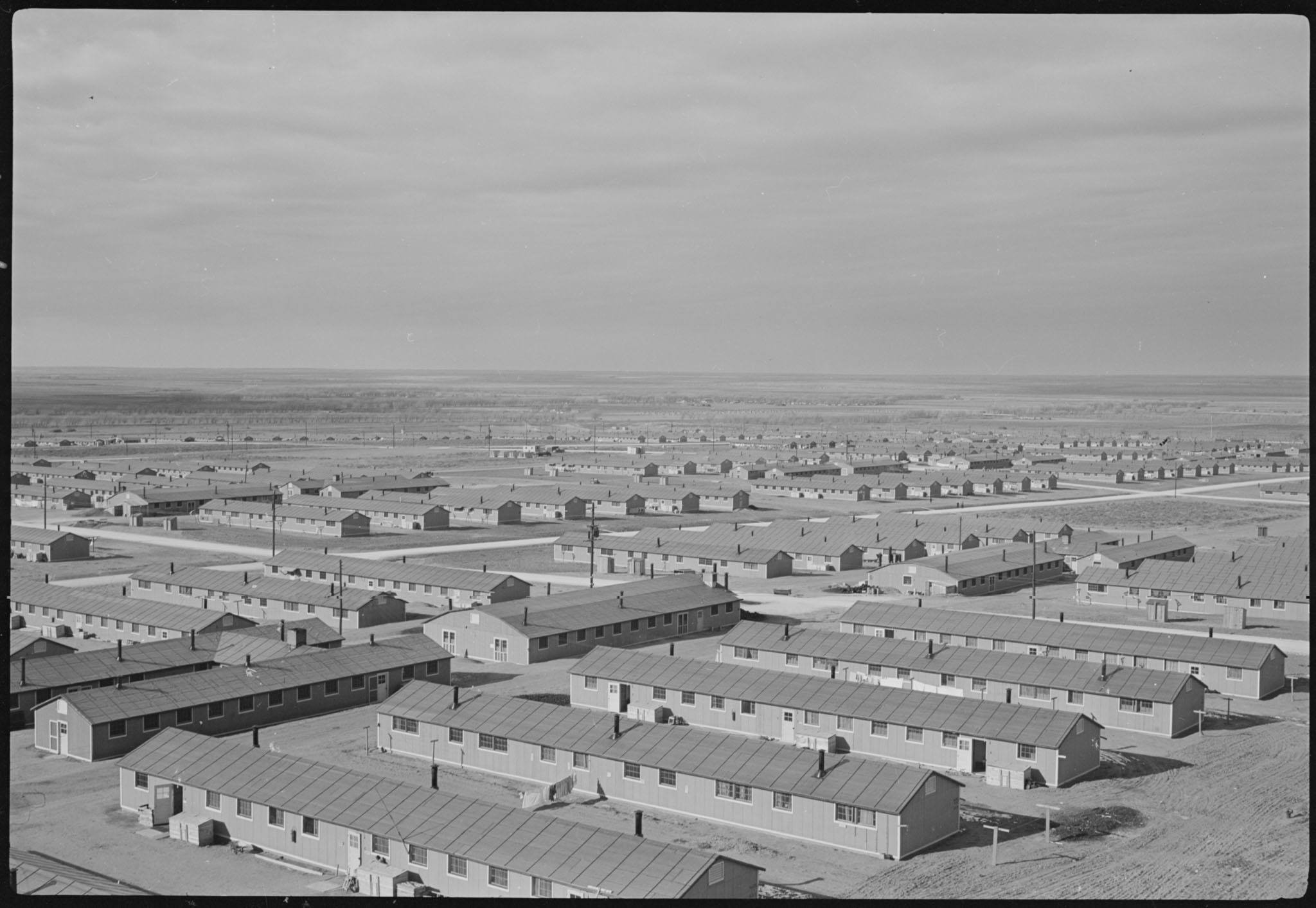 Aerial view of Camp Amache