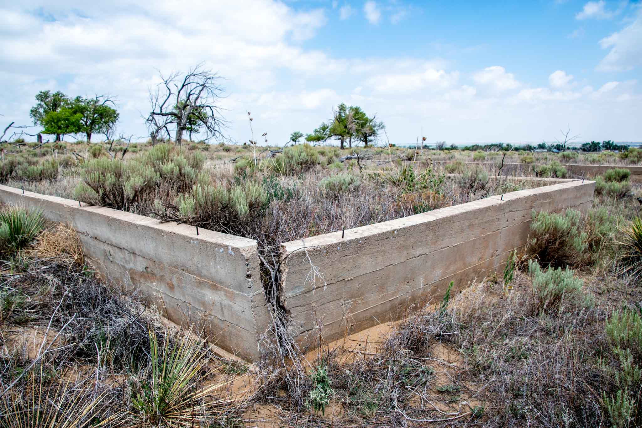 Barracks foundations crumbling