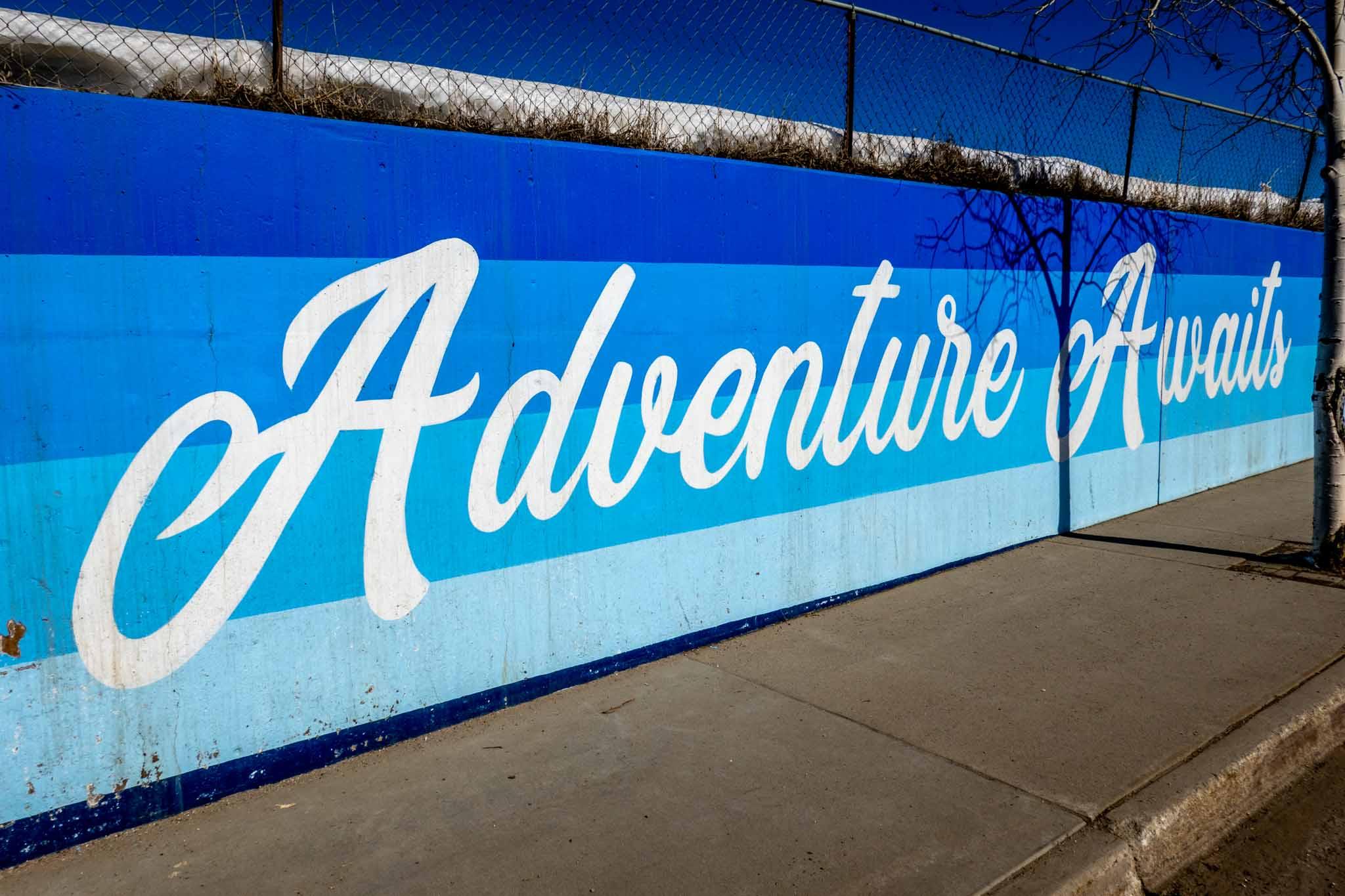 Mural reading Adventure Awaits