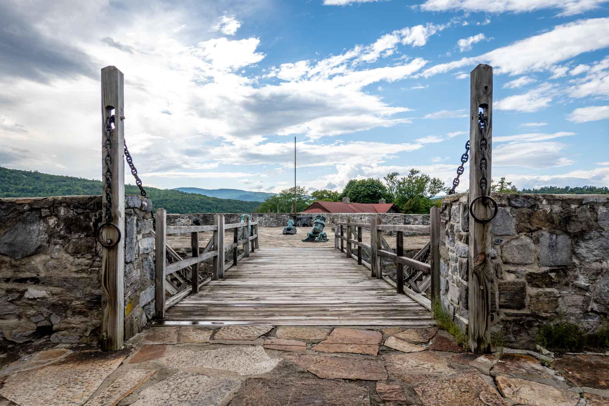 Wooden bridge in fort