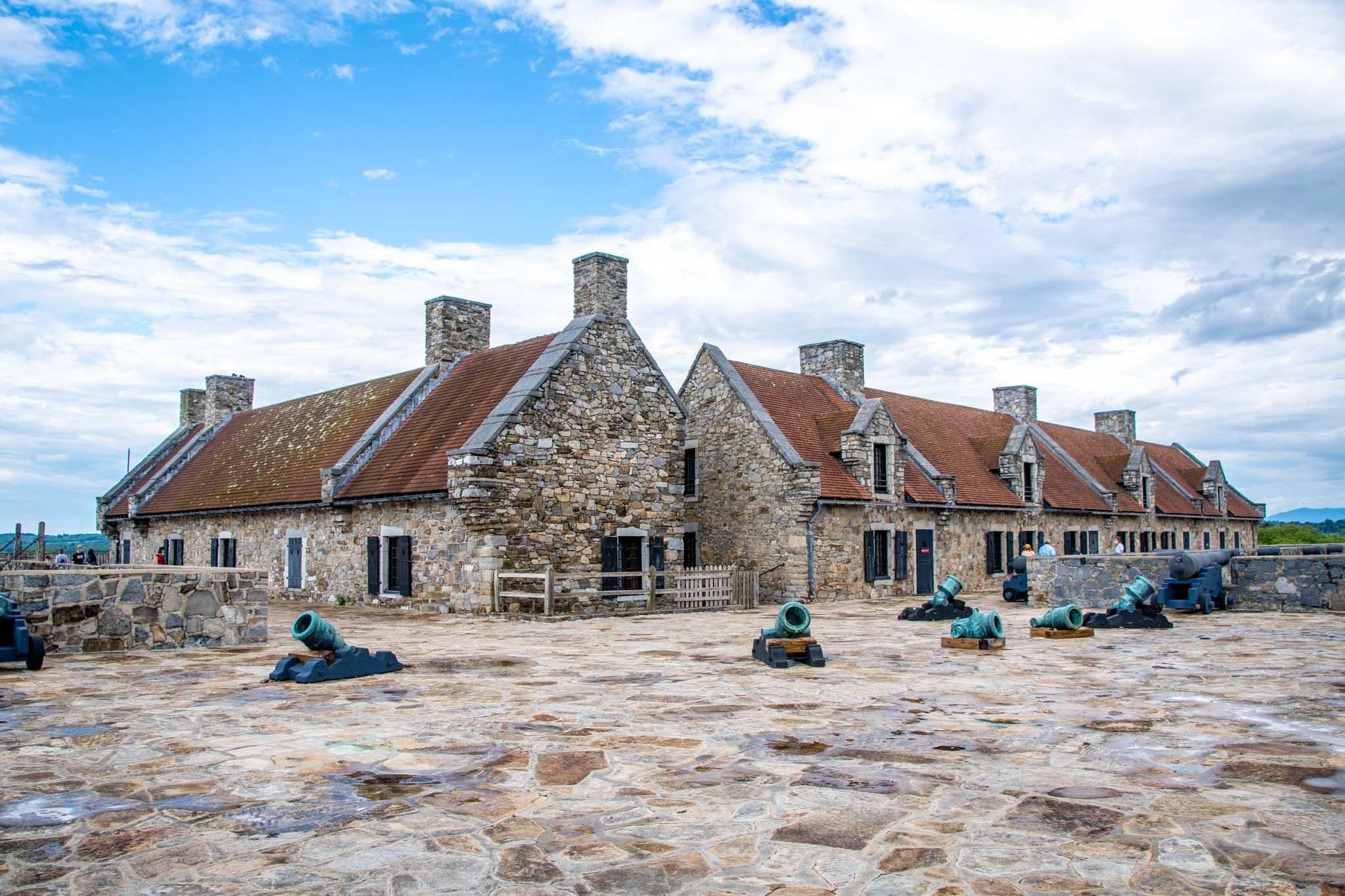 Buildings inside Fort Ticonderoga NY