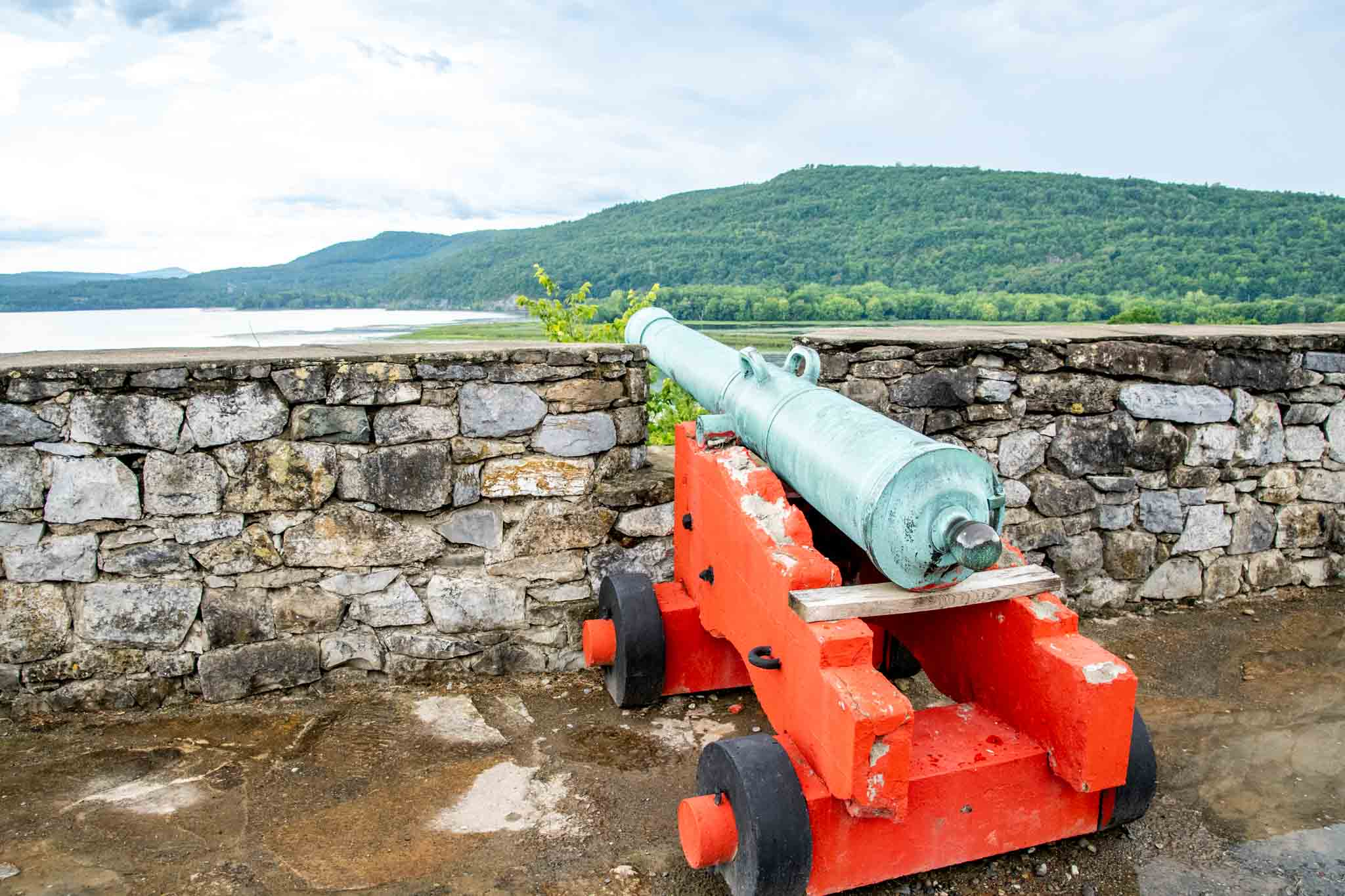 Cannon along fortress wall