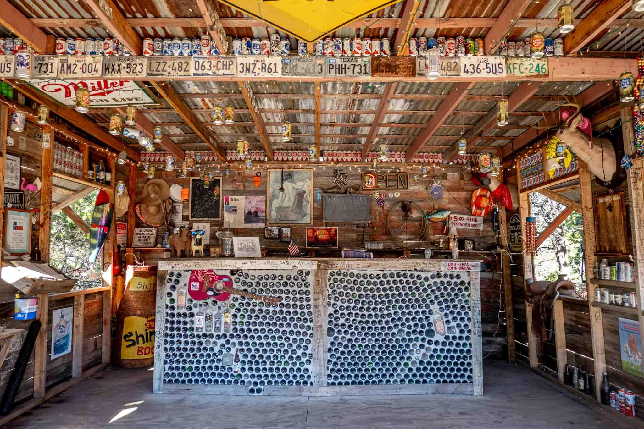 Kitschy interior of the roadside saloon