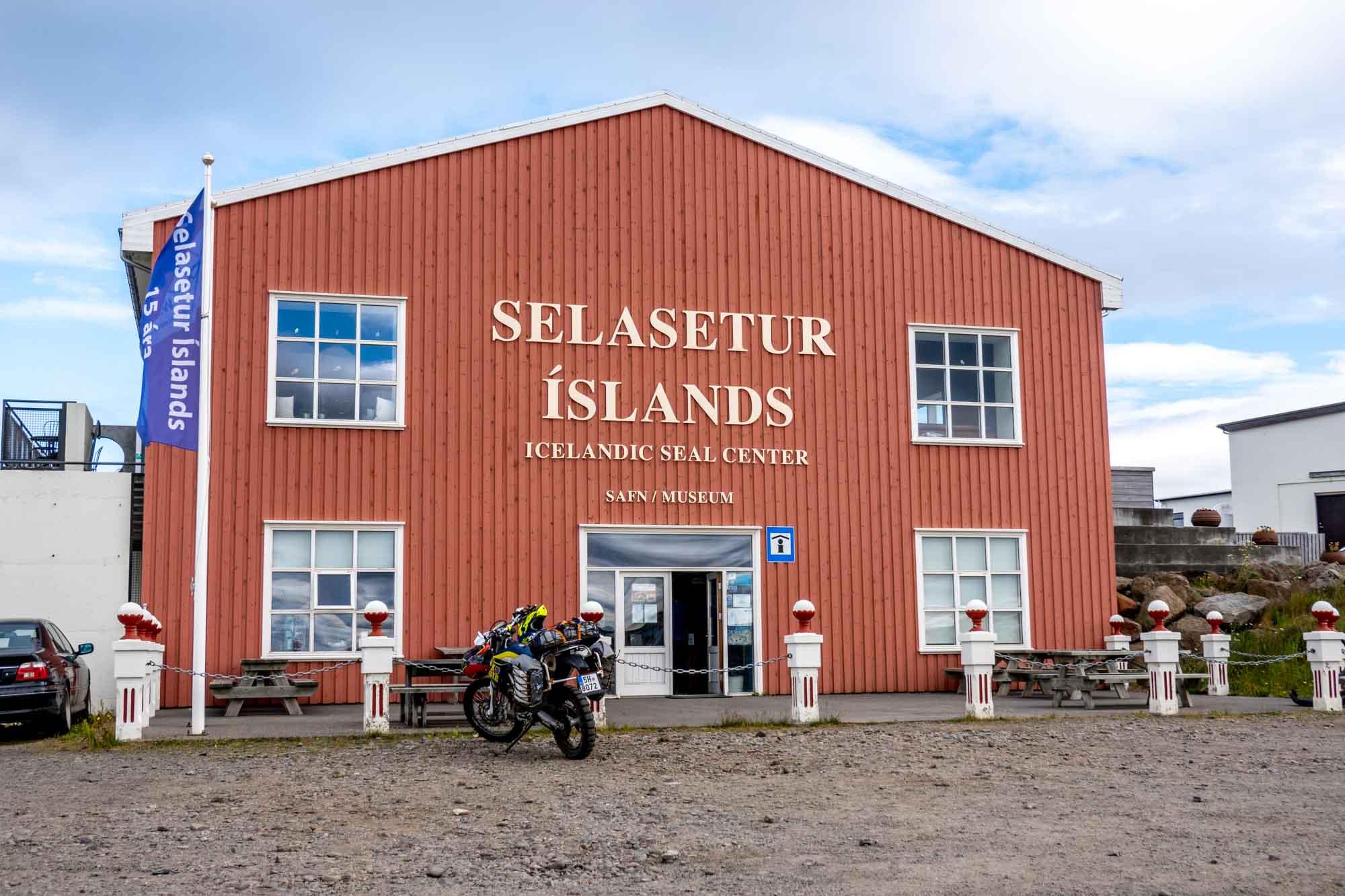 Red exterior of Icelandic Seal Center Museum