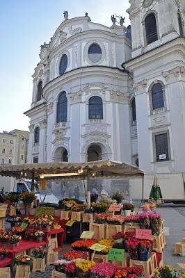 The market in Salzburg
