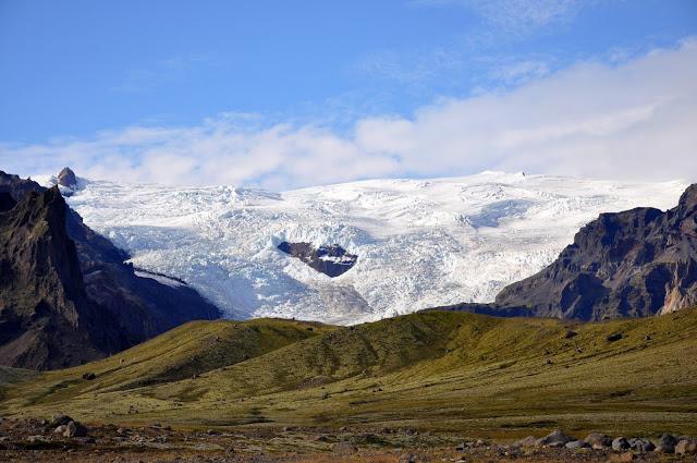 A glacier on Iceland's Southern Coast