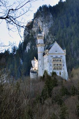 Neuschwanstein Castle on the Hillside