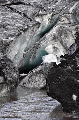 Ice crevasse in the Solheimajokull Glacier