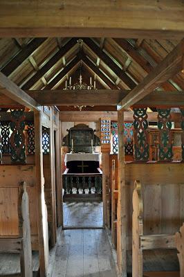 Inside the Vidimyrarkirkja in Varmahlid