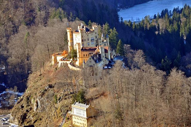 View of Hohenschwangau Castle from Neuschwanstein