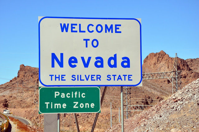 Welcome to Nevada Sign at Hoover Dam