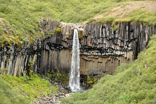 Svartifoss Waterfall in Vatnajokull National Park