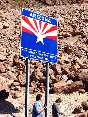 Welcome to Arizona Sign at the Hoover Dam