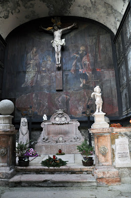 Crucifix and graves