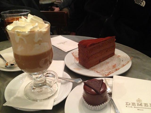 The Sacher Torte at Cafe Demel in Vienna, Austria