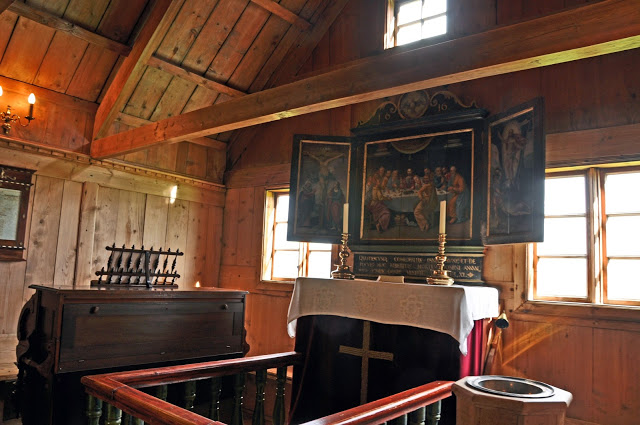 Inside the turf church of Vidimyrarkirja