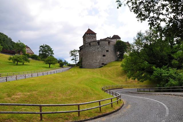 Road leading up to Vaduz Castle